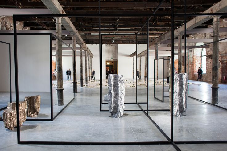 Leanor Antunes, …then we raised the terrain so that I could see out., 2017, mixed media installation, 9 x 3 x 24 m, installation view, Arsenale, 57th Venice Biennale. Courtesy: La Biennale di Venezia; photograph: Italo Rondinella
