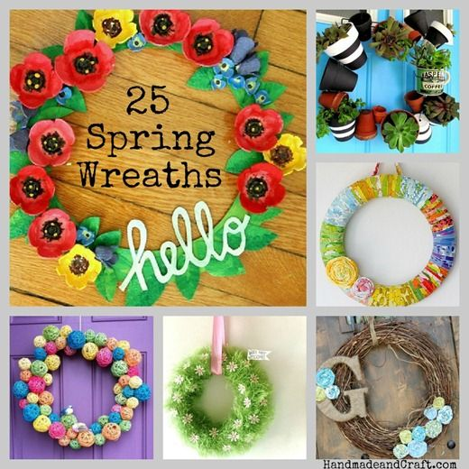 Like the burlap wreath! 25 Spring Wreaths {DIY Decor}...time to get ready!