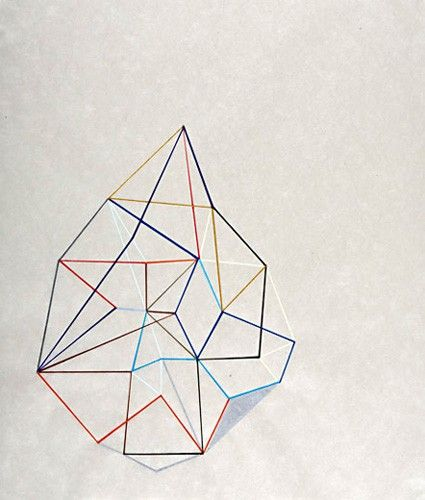 geometric wire shapes + amazing color