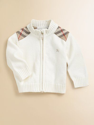 Baby Burberry sweater... I like my kids dressing better than I do