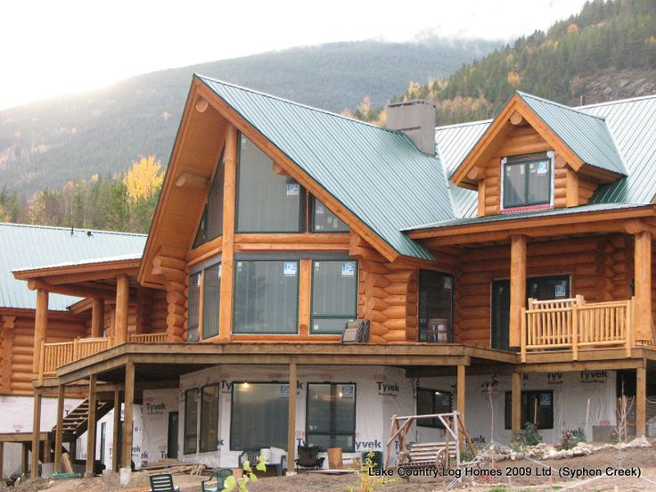 Rustic yet majestic. Love the huge windows and high ceiling in the living room.: Log Homes On, Favorite Person Retirement, House Ideas, Dream Homes, Dream House, Log Cabins, Luxury Log, Log Houses, Cabin Dream