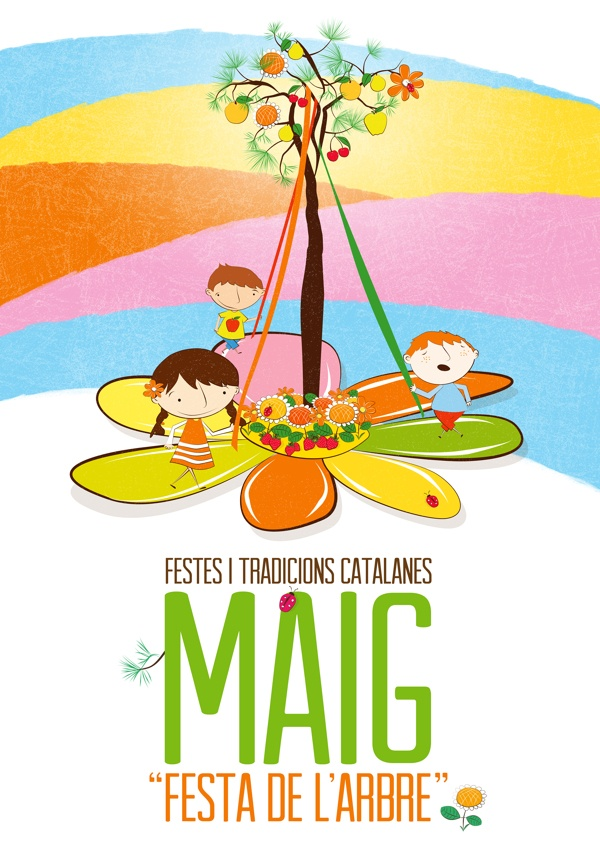 Festa de larbre de Maig by magimó , via Behance