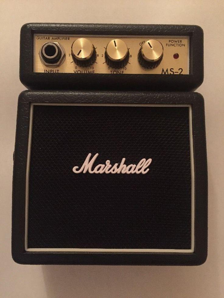 Marshall MS-2 Mini Amp Micro Guitar Amplifier Black