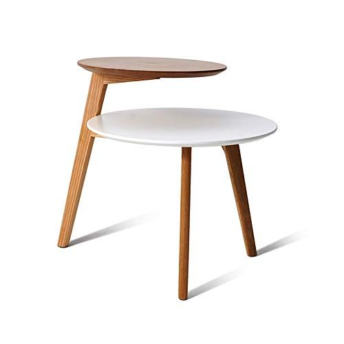 1213 Nordic Small Coffee Table Solid Wood Double Decker Minimal