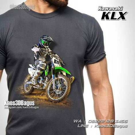 Kaos MOTOCROSS, Kawasaki KLX, Kaos Motor Trail KLX, Kaos3D, Motorcycle, Extreme Sports, Freestyle Motocross, https://instagram.com/kaos3dbagus, WA : 08222 128 3456, LINE : Kaos3DBagus