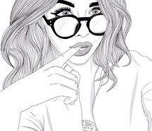 Inspirant de l'image noir et blanc, sensa, dessins, fille, filles, lunettes, cheveux, lèvres, pales, Tumblr, blanc #3820193 par rayman - Résolution 640x639px - Trouver l'image à votre goût