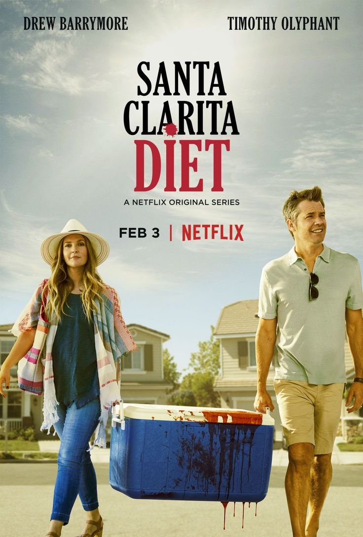 Santa Clarita Diet (2017)  Absolutely adored this! Drew Barrymore and Timothy Olyphant plays a couple -- Sheila and Joel --with a real estate business and a teenage daughter living in a typical suburban area. Then Sheila dies and things take a surreal turn. The comedy is great, but Olyphant as Joel, and his facial expressions when dealing with the absurdity of their new lives, makes it brilliant.
