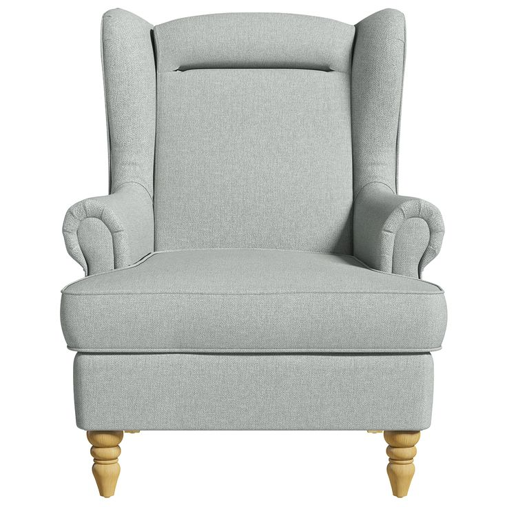 Tastefully traditional, this Mycroft armchair comes in a refined agate-grey colour, crafted using a fine herringbone fabric weave to add a touch of class to any