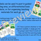Adorable owl labels can be used to post in guided reading area, on differentiated book baskets, or for organizing teaching materials for each group...