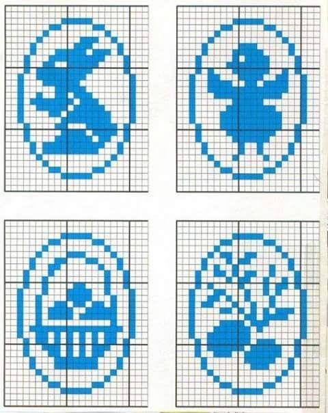 Galeria rozmaitości: Wzory szydełkowe-Wielkanoc