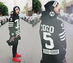 Ostre Channel Zero, Chanel Coco, Zara, Nike Air Yeezy Red October - RED OCTOBER x CHANEL - Mohcine Aoki