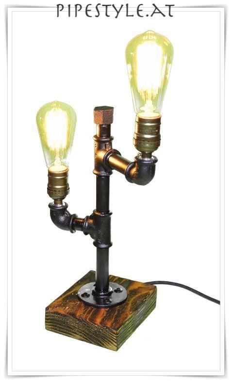 Trend Details zu EDLE Tischlampe Industrie Design retro pipe lamp Lampe Edison