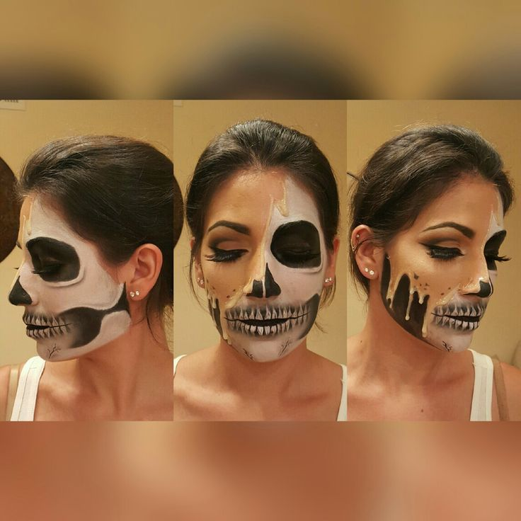 Melting face/skull @yolilov3 #desiperkinsinspiration