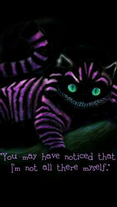 You may have notice that I'm not all there myself - Cheshire Cat - Alice in Wonderland