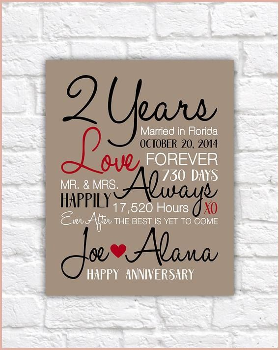 2 Year Wedding Anniversary Gift 13 Information In 2020