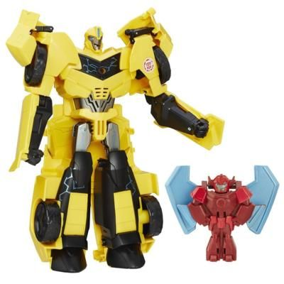 TRA RID POWER HERO BUMBLEBEE W BUZZSTRKE  http://transformers.hasbro.com/it-it/product/transformers-robots-in-disguise-power-surge-bumblebee-and-buzzstrike:47579B93-5056-9047-F54E-7FCF6EA785C5