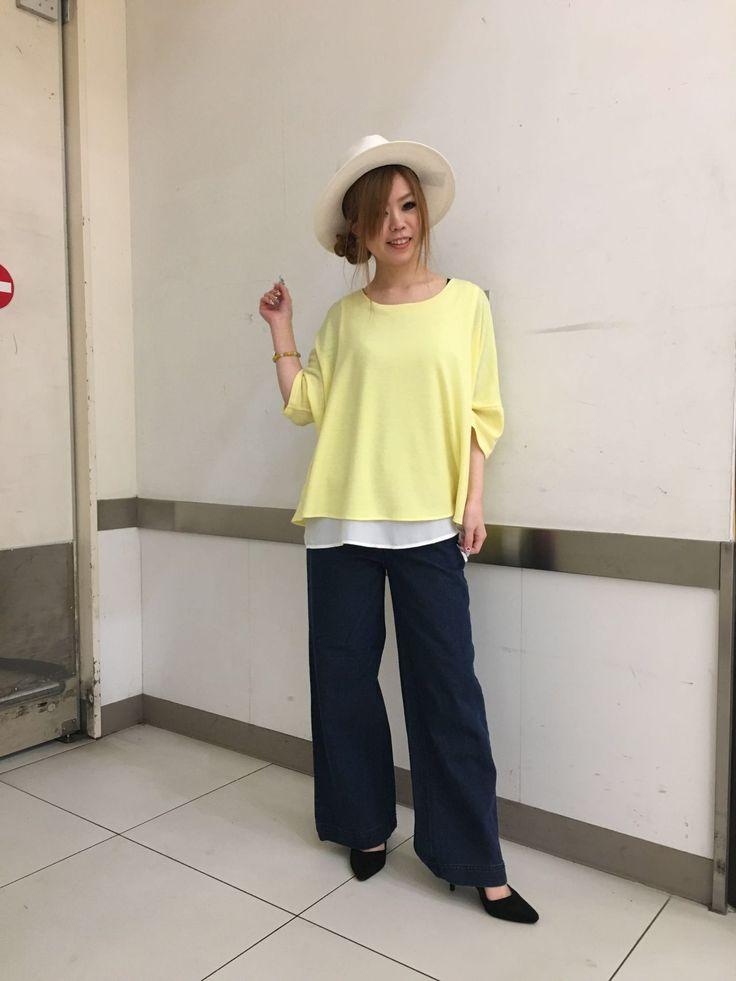 伊丹昆陽店★春色トップス!! パステルカラーのビッグシルエット✩トレンドのイエローで気分を上げて!!