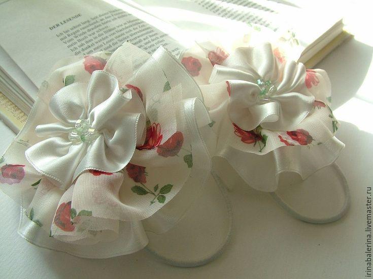 Купить Резинки для волос Розовые сады - цветочный, комбинированный, резинки для…