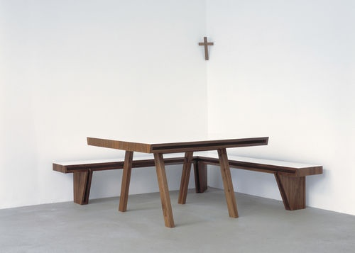 Contemporary wooden window bench seat 2