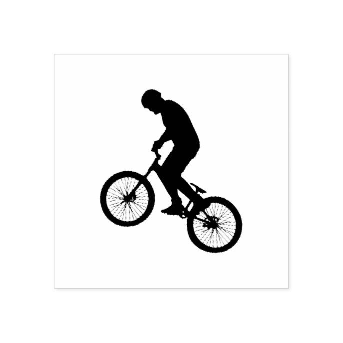 Mountain Bike Rider rubber stamp by Amazing Arts