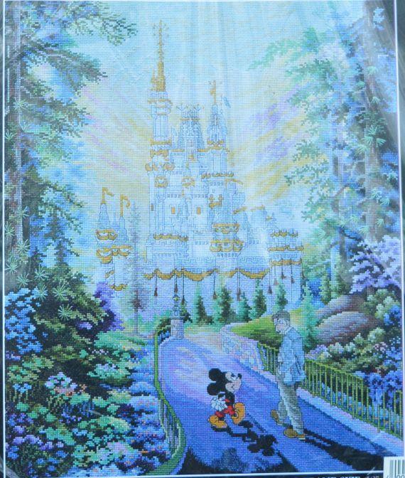 The Art of Disney  Walt and Mickey walking by GoldenThreadSupplies