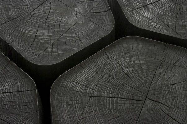 Bois Basalt Une Oeuvre Design En Bois Brule Bois Brule Table Basse Bois Table Basse