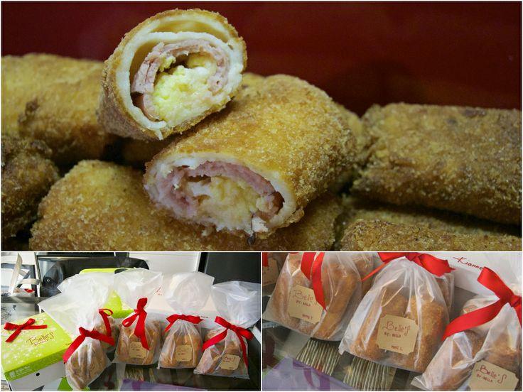 Ham & Cheese Risoles (Indonesian fried savory pancake) #bellesbybella