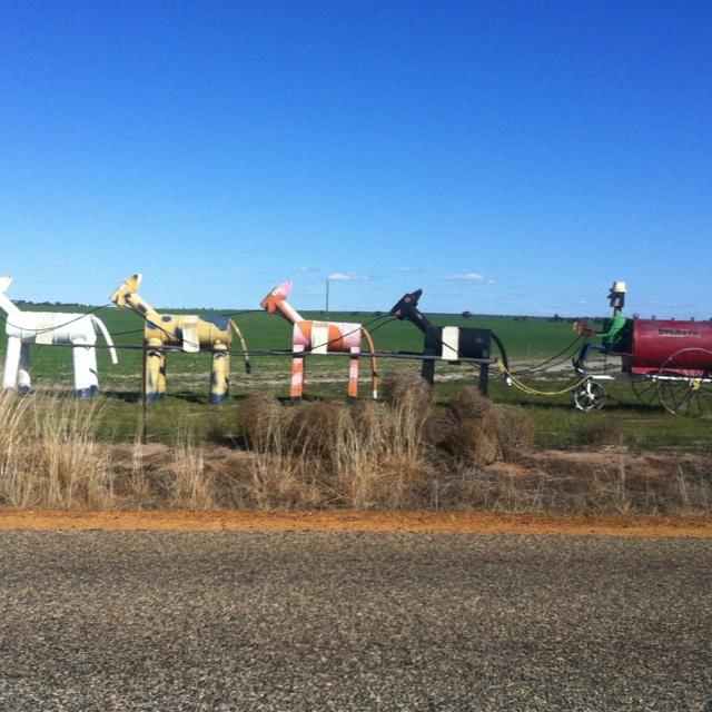 The Tin Horse highway - between Kulin and Jilakin bush race track in Western Australia