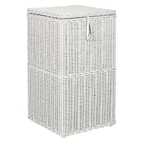 Buy John Lewis Croft Collection Rattan Square Linen Bin, Grey Online at johnlewis.com