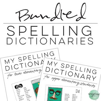 Personal Spelling Dictionary Bundle for Primary and Upper
