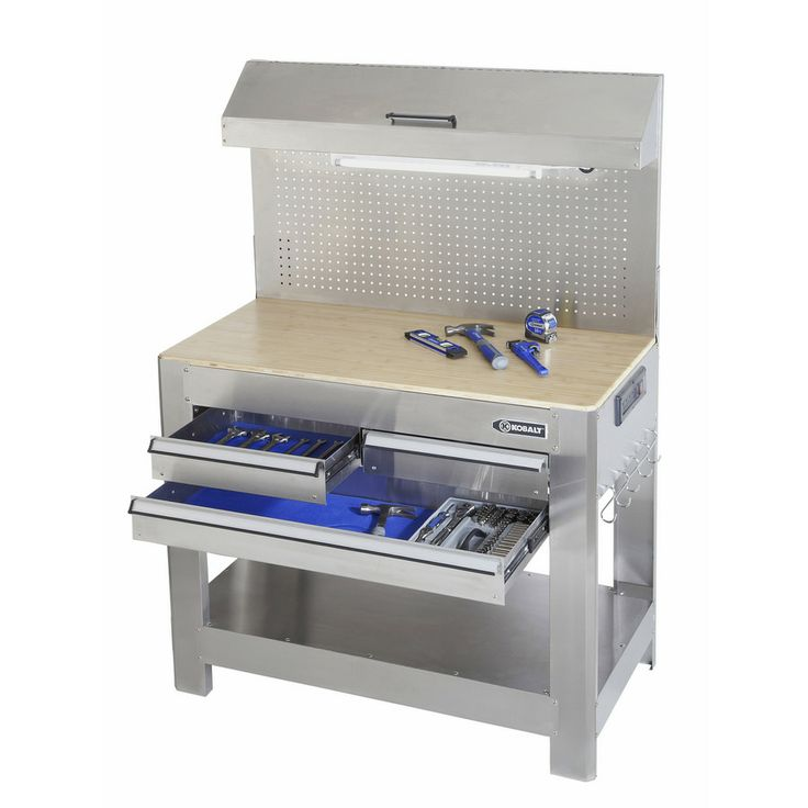 $199 Shop Kobalt Stainless Steel Heavy Duty Workbench at Lowes.com