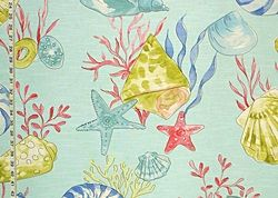 shell toile fabric | Whimsical fabrics from Brick House Fabric: Novelty Fabric