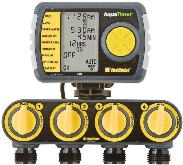Beautiful 4 Zone Digital Programmable Garden Lawn Irrigation Watering Timer Controller