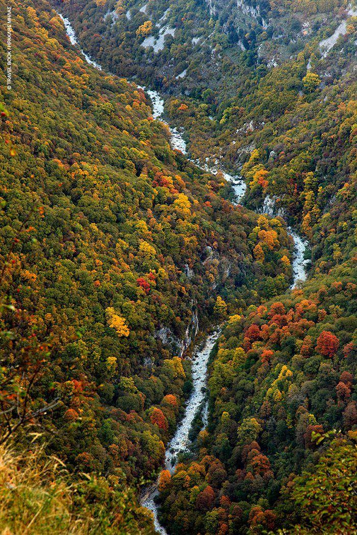 Vikos gorge, the deepest gorge on earth. Zagorochoria, Epirus, Greece