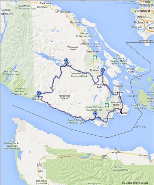 Cycle the coast to coast along the Pacific Marine Circle Route with stops  in…