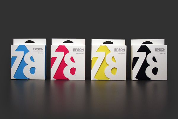 CMYK Epson Ink Cartridge Packaging