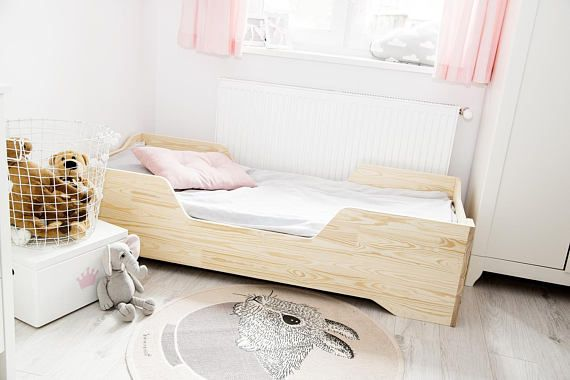 Single bed for kids  CUBE 2  Pine wood