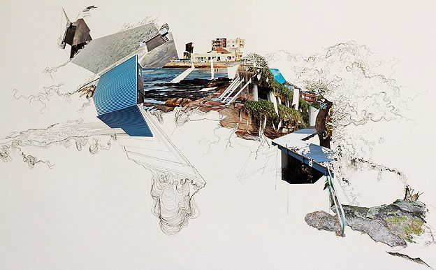 MIMI TONG, Extended Coastline  [hybrid drawing studio project idea]
