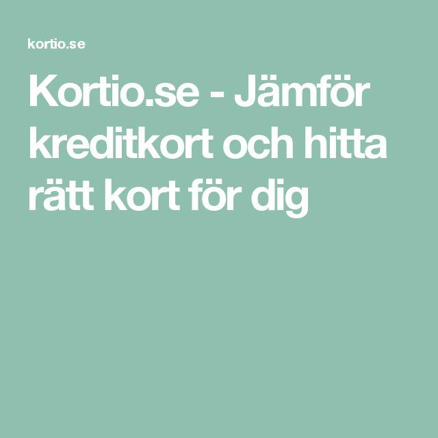 Kortio.se - Jämför kreditkort och hitta rätt kort för dig
