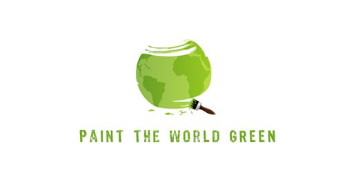 paint the world green logo - very creative!