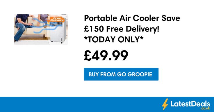 Portable Air Cooler Save £150 Free Delivery! *TODAY ONLY*, £49.99 at Go Groopie