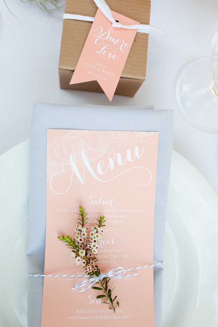 #menu  Photography: Molly, MEF Photography - mefphoto.com Event and Graphic Design: KT Designs - facebook.com/ktdesigns.likeme Floral Design: Adornments Flowers - adornmentsflowers.com/  Read More: http://www.stylemepretty.com/2013/03/21/templeton-wedding-from-mef-photography/