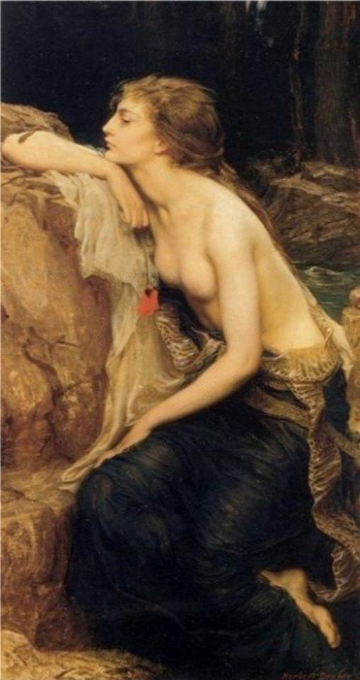 RedJames Of Arci, Herbert James Draper, The Queens, The Artists, Canvas, Herbert Draper, Lamia, Painting, Greek Mythology