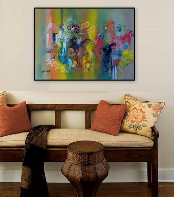 Contemporary Wall Art Abstract oil Painting by PaintingsGalceava