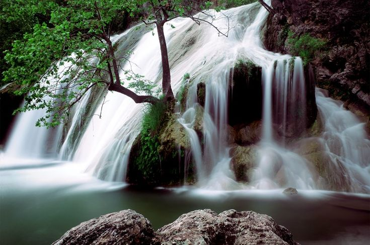 Cascading 77 feet from the top of the Arbuckle Mountains, the park's Turner Falls is known as the tallest waterfall in Oklahoma. With sandy beaches, natural caves, swimming areas, a rock castle and cabins, Turner Falls Park is a perfect family destination.
