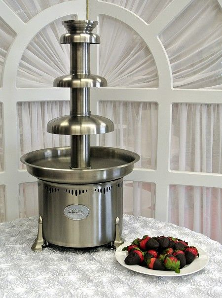 sephra 3 tier chocolate fountain includes 10lbs milk chocolate available to rent for only 275