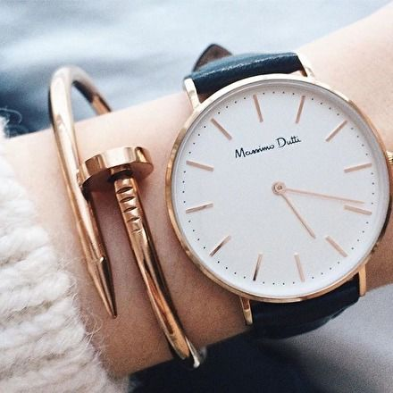 Classy Rose Gold Clasp Bangle - #fashion #trendy #jewelry #rosegold #bracelet #watch - 19,90 € @happinessboutique.com