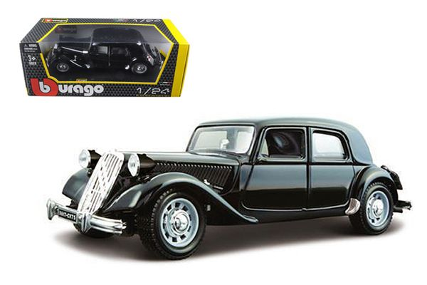 Toys Games Diecast Models Vehicle 1938 Citroen 1/24 15 CV TA Black by Bburago  Diecast Models Vehicle 1938 Citroen 1/24  Brand new 1:24 scale diecast model car of 1938 Citroen 15 CV TA Black die cast model car by Bburago. Brand new box. Rubber ...