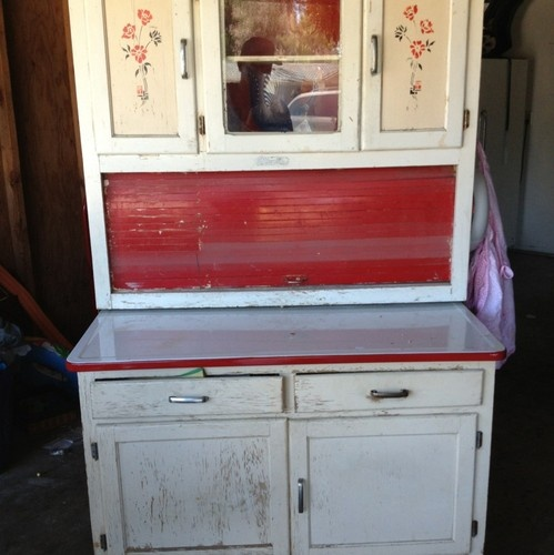 A Kitchen Queen Or Hoosier Cabinet Made By Marsh, Similar To The One I Own
