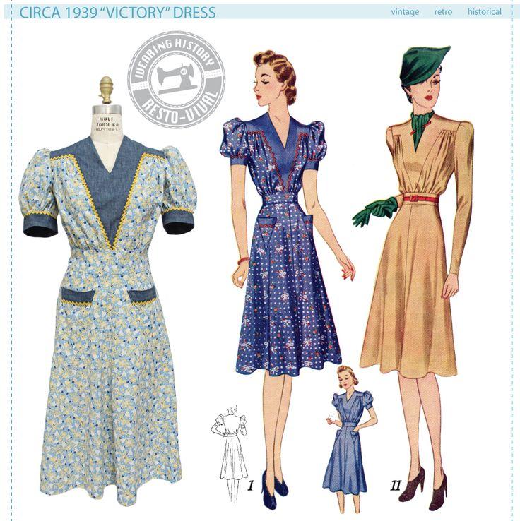 """Circa 1939 """"Victory"""" Dress Pattern - Wearing History"""